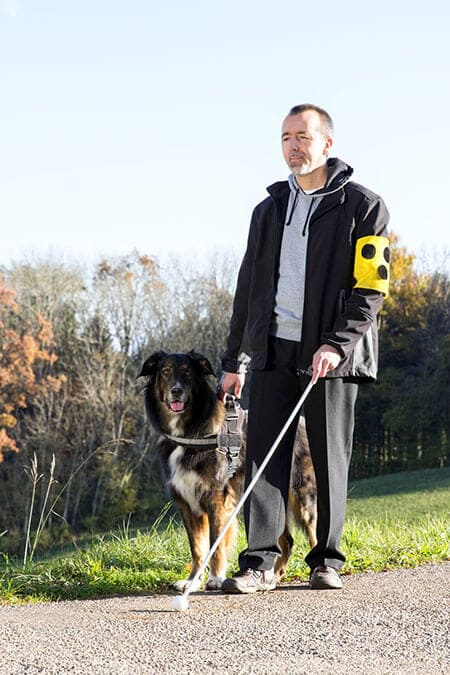 L'être humain face à l'handicape à besoin du chien pour son bien être