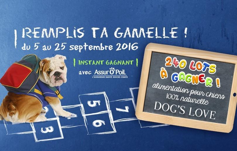 Jeu concours chien : Gagnez des aliments pour chien avec Dog's Love et Assur O'Poil