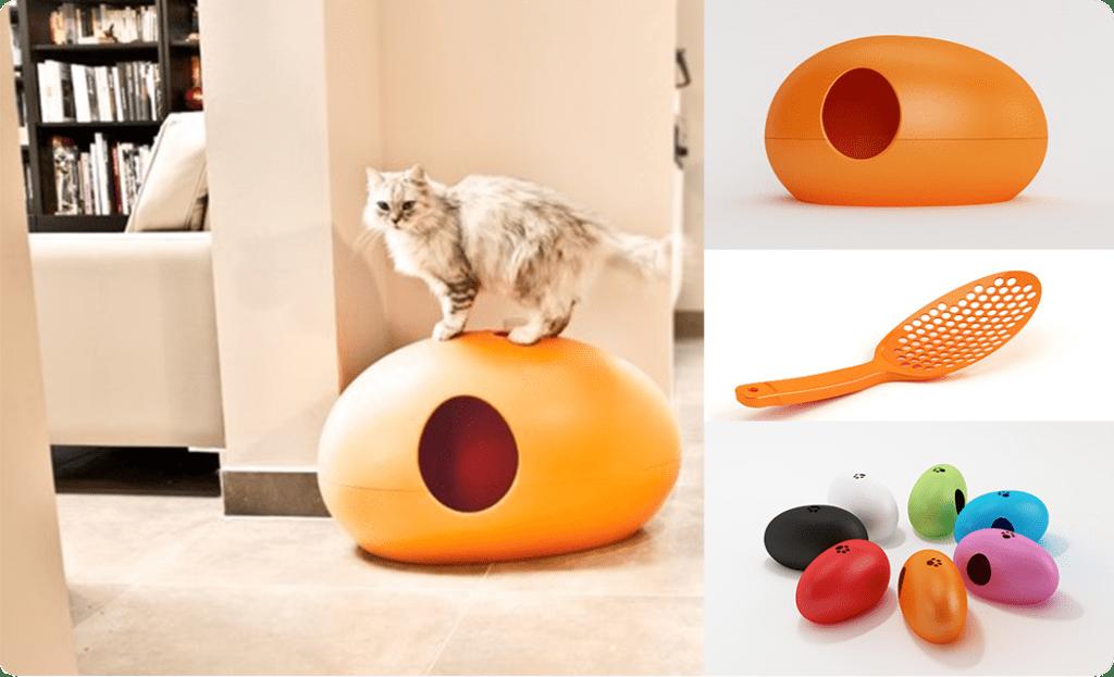 Litiere-niche pour chat